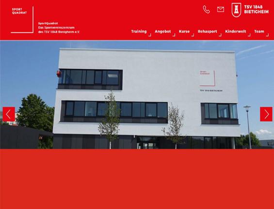 Neue SportQuadrat-Homepage - jetzt anschauen!
